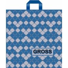"""Пакет с петлевой ручкой (Робот)45х45+6 (90) """"Gross"""" голубой"""
