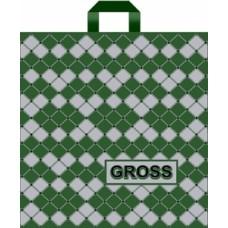 """Пакет с петлевой ручкой (Робот)45х45+6 (90) """"Gross"""" зеленый"""