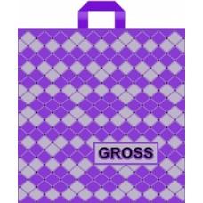 """Пакет с петлевой ручкой (Робот)45х45+6 (90) """"Gross"""" фиолетовый"""