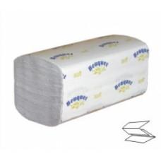 """Полотенца бумажные 1-сл. слож. """"V"""" """"Desna standart"""" белые 200лист 230мм*230мм"""