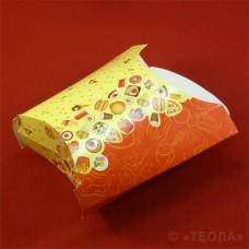 Коробка для фри красная желтая 120 гр.