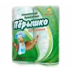 "Полотенца бумажные 2-сл. кухонные ""ПЕРЫШКО"" белые"