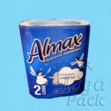 """Полотенца бумажные 2-сл. кухонные Almax """" белые"""
