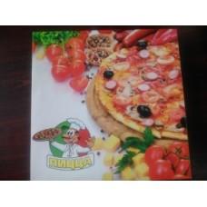 """Коробка картон """"Пицца"""" 25*25 цветная с печатью"""