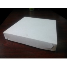 """Коробка картон """"Пицца"""" 37*37 белая (без печати) дно из гофрокартона"""