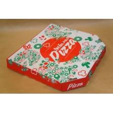"""Коробка картон """"Пицца"""" Ракушка 33*33 бурая """"Любимая пицца"""""""