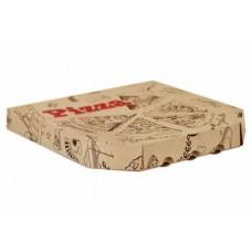 """Коробка картон """"Пицца"""" Ракушка 33*33 бурая с печатью Упак Групп"""