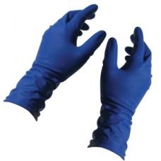 Перчатки латексные особопрочные Темно-синие UNIMAX L