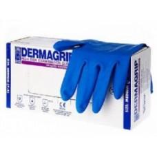 Перчатки латексные особопрочные Голубые DERMAGRIP L