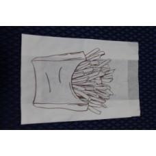 """Пакет бумажный с рисунком (пергамент) 110*50*175мм """"Фри"""" Ж 40 гр м"""