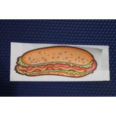Уголок бумажный 80*40*225 мм с печатью хот дог (пергамент)
