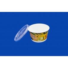 Бумажная креманка/супница цветная d1-121,d2-93,h-73 РМП 500 мл