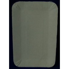 Тарелка картон 13х20 2х-сторон. прямоугольный бел. ламин. Т 1000 ПОС08222