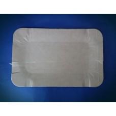 Тарелка картон 13х20 прямоугольный картон темн РК молоко