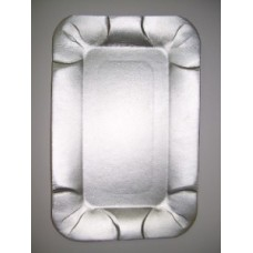 Тарелка картон 13х20 прямоугольный картон фольгир. Т ПОС03760