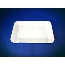 Тарелка картон 13х20 прямоугольный Супер белая 100шт*18уп ПОС06673