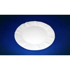 Тарелка картон D=175 круглая Ч белая ПОС08933