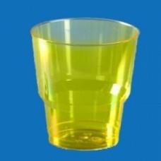 """Стакан 200мл """"Кристалл"""" желтый"""