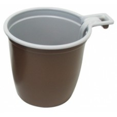 """Чашка кофейная 180мл """"ИНТЕКО"""" ПП коричневая белая"""